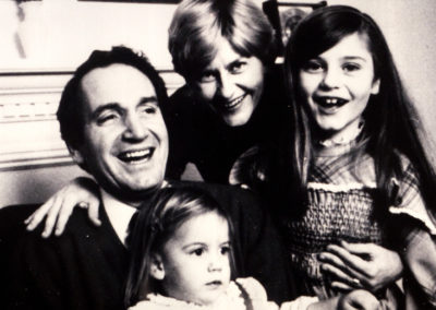 Tom and Ruth Harkin with daughters Amy and Jenny.