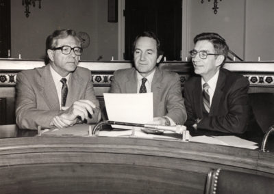 From left to right: Neal Smith, Tom Harkin, and Berkley Bedell.
