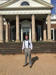 2018 D.C. Experience Scholarship Recipient Wyatt Anderson during a visit to Monticello.