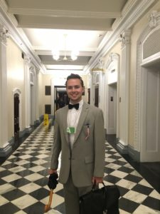 2018 D.C. Experience Scholarship Recipient Wyatt Anderson poses for a photo in the White House.
