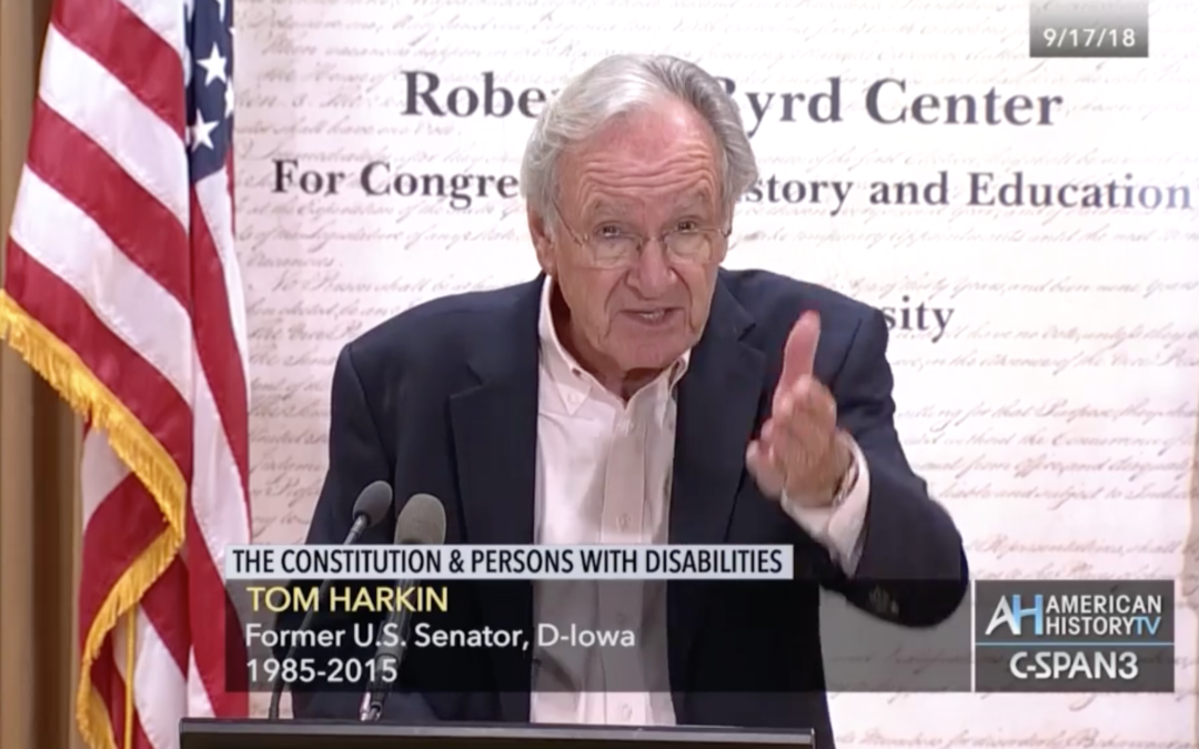 Senator Harkin Speech: Constitution and Persons with Disabilities