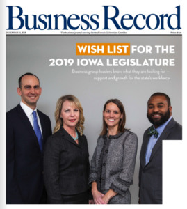 Image of the cover of the 12/28/2018 issue of the Business Record, featuring Joseph Jones